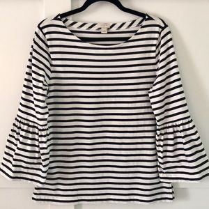 J Crew Mercantile Bell Sleeve Top